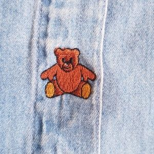 Vintage button Teddy Bear top